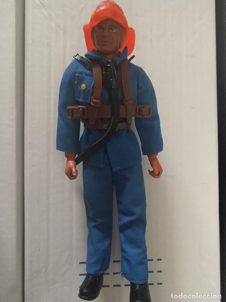 Figuras de acción - Big Jim: RARO BIG JIM BOMBERO ORIGINAL MATTEL CONGOST AÑOS 70 MUY BUEN ESTADO - Foto 2 - 225406877