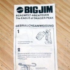 Figuras de acción - Big Jim: BIG JIM - FOLLETO DE MATTEL - AVENTURA EN LAS CUMBRES - THE EAGLE OF DANGER PEAK - MOCHILA - 1975. Lote 228620620