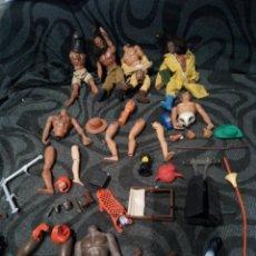 Figuras de acción - Big Jim: LOTE FIGURAS Y PIEZAS ACCESORIOS BIG JIM AÑOS 1970 CONGOST.. Lote 241983905