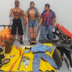 Figuras de acción - Big Jim: LOTE BIG JIM 3 FIGURAS, MOTO Y ACCESORIOS. VER FOTOS. Lote 263022250