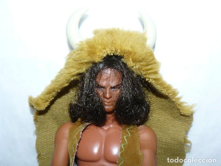 Figuras de acción - Big Jim: Mattel BIG JIM Figura Indio Bisonte Negro articulado original Hong Kong 1971 oeste far west congost - Foto 2 - 288701788
