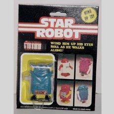Figuras de acción: ANTIGUO STAR ROBOT A CUERDA EN SU BLISTER. Lote 105938214