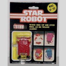 Figuras de acción: ANTIGUO STAR ROBOT A CUERDA EN SU BLISTER. Lote 881241