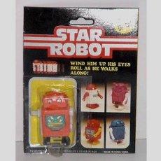 Figuras de acción: ANTIGUO STAR ROBOT A CUERDA EN SU BLISTER. Lote 105938464
