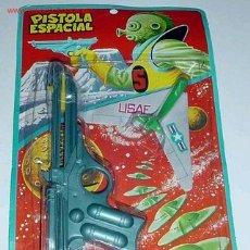 Figuras de acción: ANTIGUA PISTOLA ESPACIAL - A ESTRENAR EN SU BLISTER. Lote 26379815