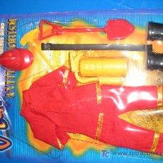 Figuras de acción: KIT BOMBERO-ROJO HURRICANE MAGIC CARS. Lote 9967316