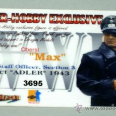 Figuras de acción: TARJETA OFICIAL ALEMAN DRAGON CIBER-HOBBY. Lote 19787078