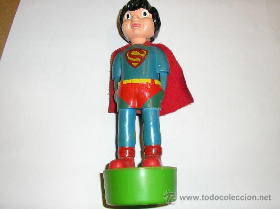 SUPERMAN - FIGURA PLASTICO - MADE IN SPAIN -MUÑECOS ANIMADOS MUÑOZ -1980 (Juguetes - Figuras de Acción - Otras Figuras de Acción)