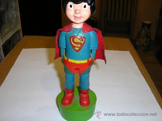 Figuras de acción: SUPERMAN - FIGURA PLASTICO - MADE IN SPAIN -Muñecos animados Muñoz -1980 - Foto 2 - 23714126