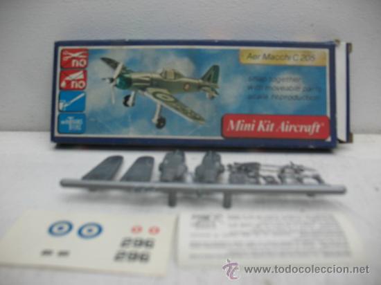 Figuras de acción: MINI-KIT AIRCRAFT AVION MOD:AER MACCHI C-205 GAMES COLLCTION - Foto 3 - 29398558