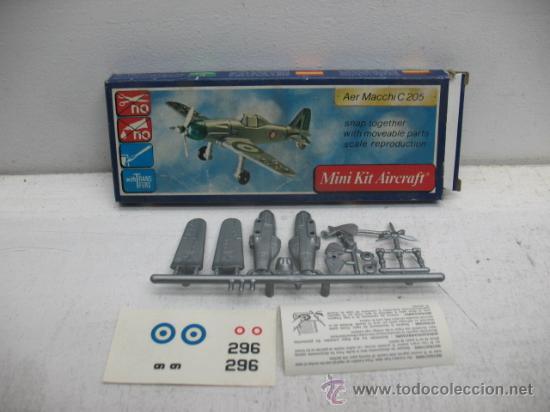 Figuras de acción: MINI-KIT AIRCRAFT AVION MOD:AER MACCHI C-205 GAMES COLLCTION - Foto 2 - 29398558