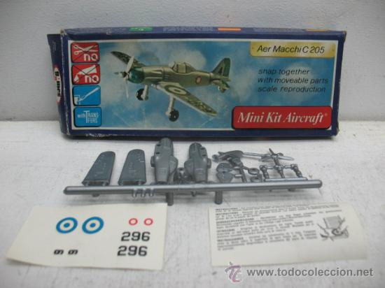 Figuras de acción: MINI-KIT AIRCRAFT AVION MOD:AER MACCHI C-205 GAMES COLLCTION - Foto 3 - 29398542