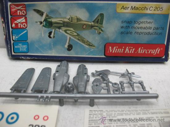 Figuras de acción: MINI-KIT AIRCRAFT AVION MOD:AER MACCHI C-205 GAMES COLLCTION - Foto 2 - 29398542