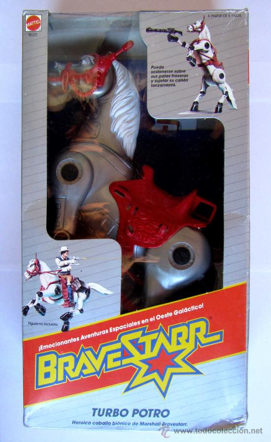 Autocollant ancien sticker vintage Marshal Brave Starr Bravestarr Mattel