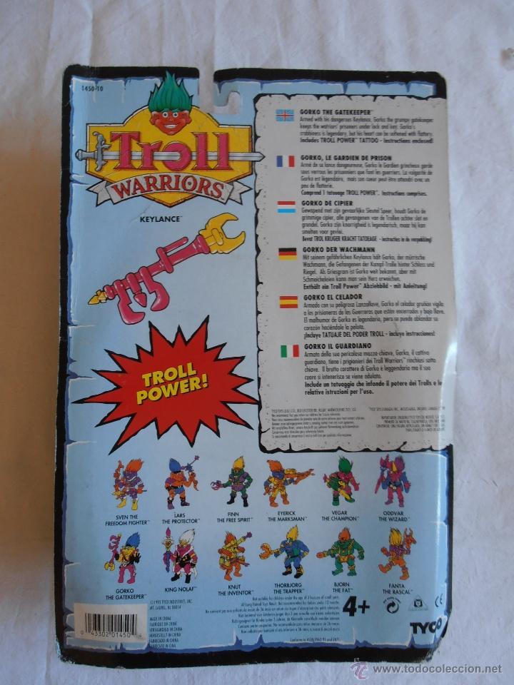 Figuras de acción: FIGURA TROLL WARRIORS GORKO THE GATEKEEPER NUEVO EN BLISTER DE TYCO - Foto 2 - 46325679