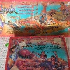 Figuras de acción: MATTEL 1991 HOOK GARFIO NIÑO PERDIDO 2832 TANQUE ATAQUE ARIETE CAÑON & 2833 BALSA CATAPULTA BALLESTA. Lote 40486216