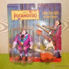 Figuras de acción: MATTEL POCAHONTAS - JOHN RATCLIFFE ACTION FIGURE-EN SU BLISTER ORIGINAL-FIGURA DISNEY-DESCATALOGADA. Lote 43111298