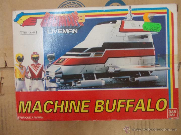 BIOMAN 3 LIVEMAN-MACHINE BUFFALO-NUEVO-AÑO 1988-BANDAI-INENCONTRABLE (Juguetes - Figuras de Acción - Otras Figuras de Acción)