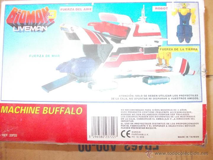 Figuras de acción: BIOMAN 3 LIVEMAN-MACHINE BUFFALO-NUEVO-AÑO 1988-BANDAI-INENCONTRABLE - Foto 4 - 120283910