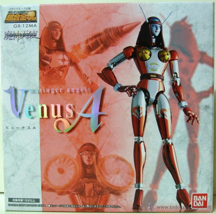 FIGURA VENUS A GX-12 MA MAZINGER Z ANGELS - BANDAI SOUL OF CHOGOKIN - DIECAST ROBOT MUÑECA MINIATURA (Juguetes - Figuras de Acción - Otras Figuras de Acción)