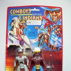 Figuras de acción: FIGURAS COWBOYS & INDIANS ARTICULADAS - AÑOS 80 - NUEVO EN BLISTER - RARO BOOTLEG MOTU. Lote 46144558