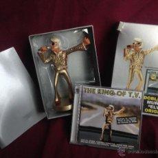 Figuras de acción: MUÑECO ELVIS ORGIGINAL + DOBLE CD (NUEVO A ESTRENAR). Lote 46377887