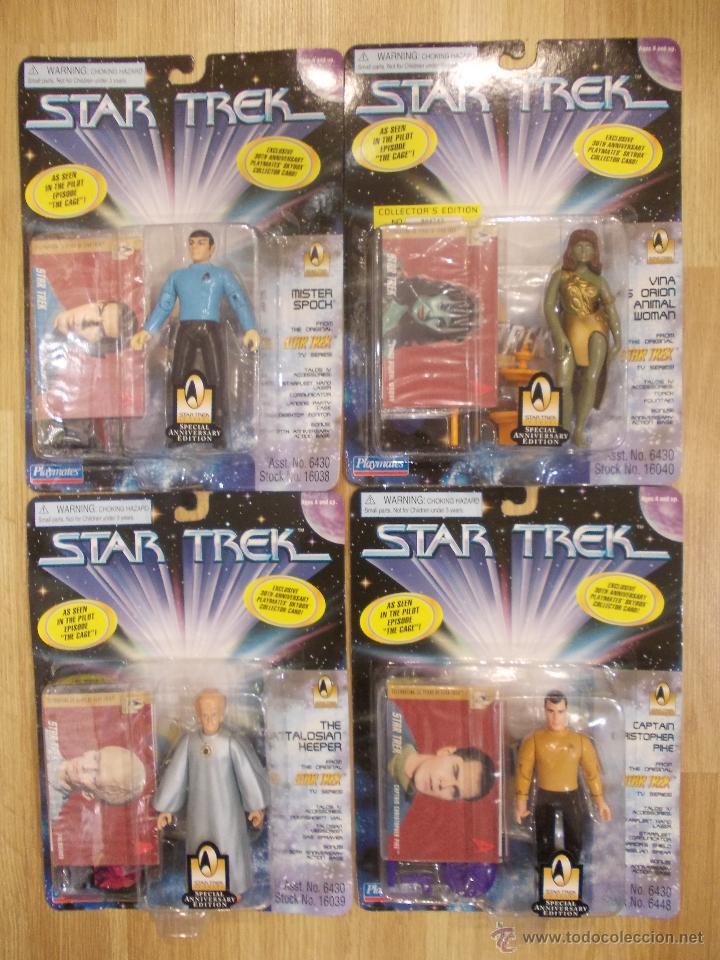 STAR TREK-COLECCION COMPLETA-4 FIGURAS-EPISODIO PILOTO THE CAGE-PLAYMATES-SUPERDIFICIL-NUEVAS (Juguetes - Figuras de Acción - Otras Figuras de Acción)