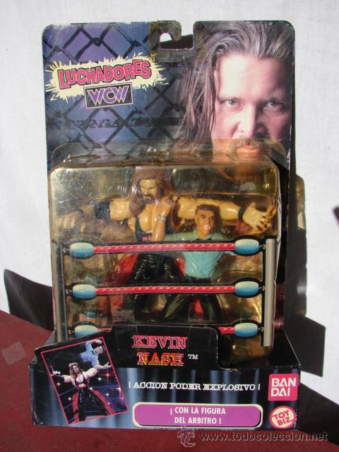 PRESSING CATCH - WCW - KEVIN NASH CON ÁRBITRO - BANDAI (Juguetes - Figuras de Acción - Otras Figuras de Acción)