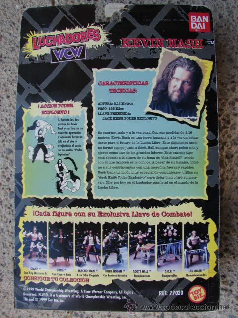 Figuras de acción: PRESSING CATCH - WCW - KEVIN NASH CON ÁRBITRO - BANDAI - Foto 3 - 48424050