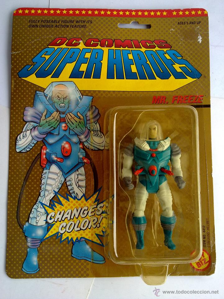 DC COMICS SUPERHEROES BLISTER FREZE VS BATMAN 1989 POS SUPER POWERS TOY BIZ (Juguetes - Figuras de Acción - Otras Figuras de Acción)