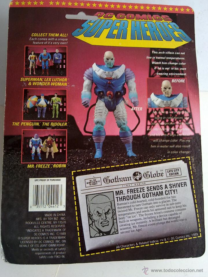 Figuras de acción: DC COMICS SUPERHEROES BLISTER FREZE VS BATMAN 1989 POS SUPER POWERS TOY BIZ - Foto 3 - 187129597