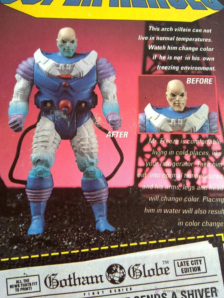 Figuras de acción: DC COMICS SUPERHEROES BLISTER FREZE VS BATMAN 1989 POS SUPER POWERS TOY BIZ - Foto 4 - 187129597