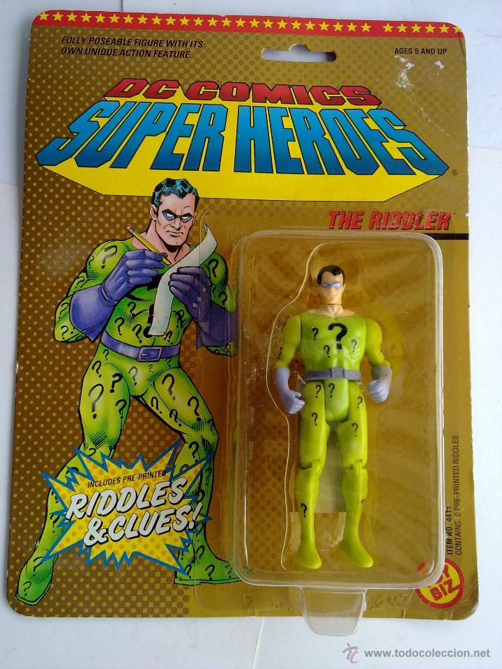DC COMICS SUPERHEROES BLISTER ENIGMA 1989 POS SUPER POWERS TOY BIZ (Juguetes - Figuras de Acción - Otras Figuras de Acción)