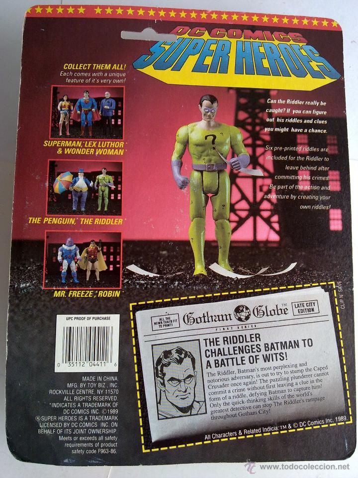 Figuras de acción: DC COMICS SUPERHEROES BLISTER ENIGMA 1989 POS SUPER POWERS TOY BIZ - Foto 2 - 238888185