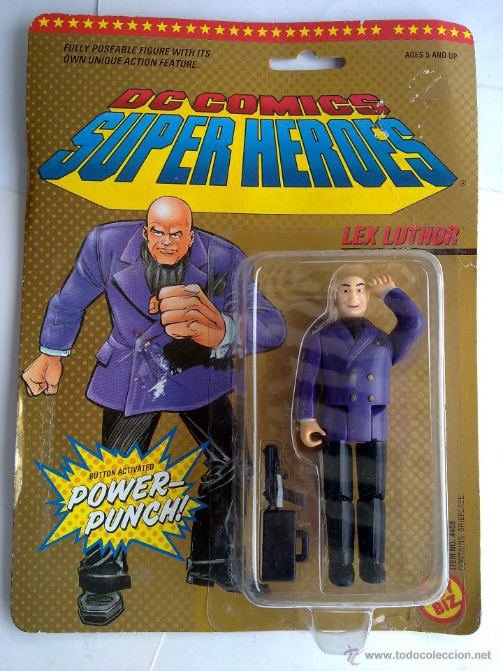 DC COMICS SUPERHEROES BLISTER LUTHOR VS SUPERMAN 1989 POS SUPER POWERS TOY BIZ (Juguetes - Figuras de Acción - Otras Figuras de Acción)