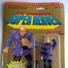 Figuras de acción: DC COMICS SUPERHEROES BLISTER LUTHOR VS SUPERMAN 1989 POS SUPER POWERS TOY BIZ. Lote 187129650
