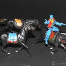Figuras de acción: SOLDADO YANKEE Y CABALLOS DESCONOZCO MARCA. Lote 49923609