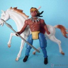 Figuras de acción: FIGURA CON CABALLO COWBOYS AND INDIANS MOTU BOOTLEG. Lote 50971230