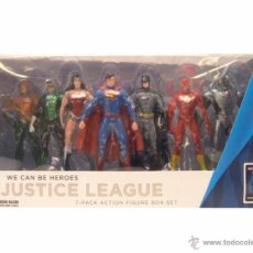 Figuras de acción: JUSTICE LEAGUE PACK 7 FIGURES BOX SET DC COLLECTIBLES. Lote 53892636
