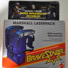Figuras de acción: BRAVESTARR. BRAVE STARR STAR. MARSHALL LASERPACK. LASER PACK COLOR AZUL. 1988 MATTEL. [NUEVO]. Lote 194197401
