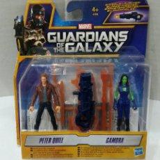 Figuras de acción: GUARDIANS OF THE GALAXY. PETER QUILL. GAMORA. NUEVO EN BLISTER. MARVEL. HASBRO. GUARDIANES GALAXIA. Lote 109052456