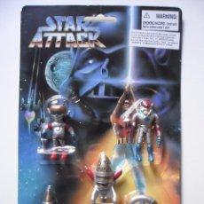 Figuras de acción: VINTAGE STAR WARS STAR ATTACK FIGURAS DE PVC BOOTLEG . Lote 85450980