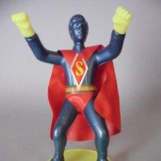 Figuras de acción: SUPERMAN ANTIGUA FIGURA BOOTLEG DE PLASTICO SOPLADO DE 13 CM INDUSTRIAS FAL . Lote 86503004