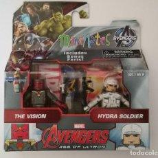 Figuras de acción: MINIMATES FIGURAS PACK DE FIGURAS THE VISION E HYDRA SOLDIER. AVENGERS MARVEL. NUEVAS A ESTRENAR! . Lote 89518608