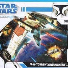 Figuras de acción: V-19 TORRENT STARFIGHTER - STAR WARS - CLONE WARS. Lote 92061150