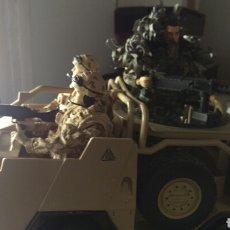 Figuras de acción: -ULTIMO-HM ARMED FORCES.VEHÍCULO CHACAL Y TRES FIGURAS.. Lote 101366874