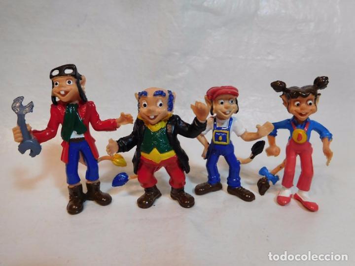 CUATRO FIGURAS MUÑECOS EN PVC DE LOS FAMOSOS DIMINUTOS AÑOS 80 NUEVOS (Juguetes - Figuras de Acción - Otras Figuras de Acción)