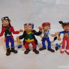 Figuras de acción: CUATRO FIGURAS MUÑECOS EN PVC DE LOS FAMOSOS DIMINUTOS AÑOS 80 NUEVOS. Lote 164973304