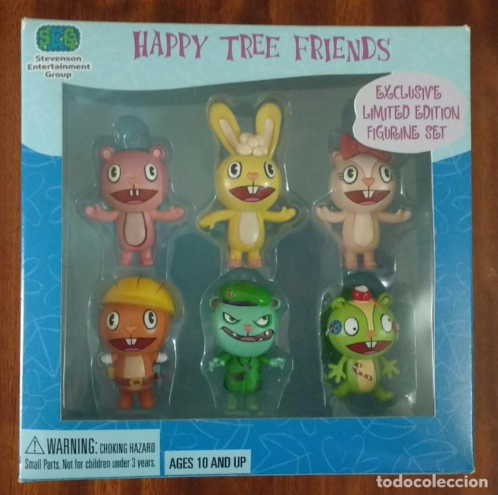 HAPPY TREE FRIENDS - EXCLUSIVE LIMITED EDITION 6 FIGURINE SET - SDCC EXCLUSIVE 2004 (Juguetes - Figuras de Acción - Otras Figuras de Acción)