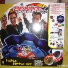Figuras de acción: BEYBLADE METAL MASTER, TRIPLE BATTLE SET DE HASBRO, AÑO 2011, NUEVO.. Lote 148946901